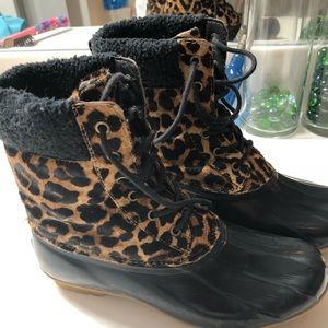 Shoes - Cheetah Duck Boots